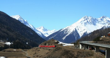 Biken am Bernina Pass im Wallis